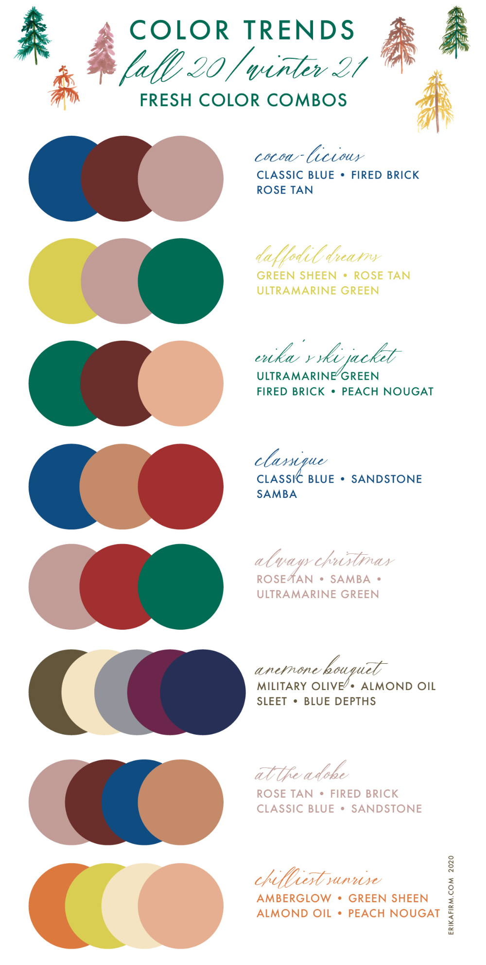 Colour combinations to get you started